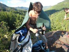 Rock Climbing Photo: Michael climbs hard.