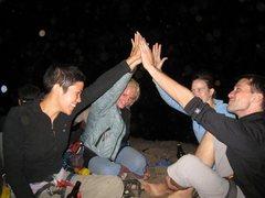 Rock Climbing Photo: Wendi,me,Kelly, and John celebrate.