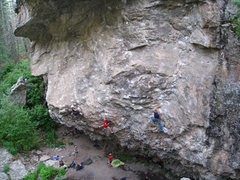 Rock Climbing Photo: A busy night at the Dungeon main wall. Allison (wi...