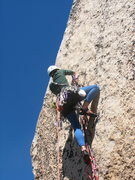 Rock Climbing Photo: Stylish on the first couple bolts of the Beckey bo...