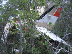 Rock Climbing Photo: Wreckage from the June 2007 plane crash on the sou...