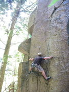 Rock Climbing Photo: Brad starting Cliptomaniac in The Valley of Shadda...