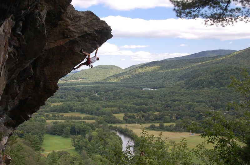 Ladd maxing out on the upper pump crux