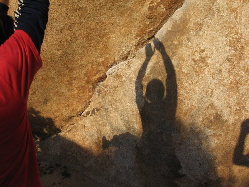 Rock Climbing Photo: Even your shadows want to climb in J TREE.