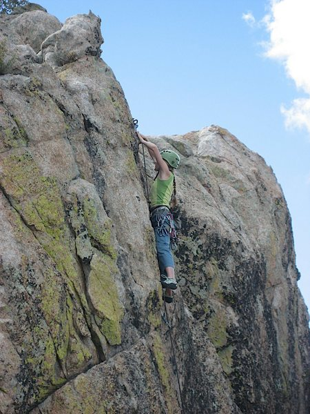 Rock Climbing Photo: Sky Valley-- The Fire Inside-- At the anchors... S...