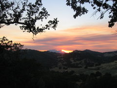 Rock Climbing Photo: Beautiful sunset in Californa.