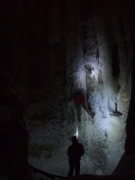 Rock Climbing Photo: Valentines Day Ice Climbing