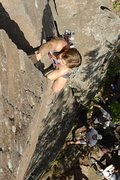 Rock Climbing Photo: One of my first leads.  Taken by Adrian