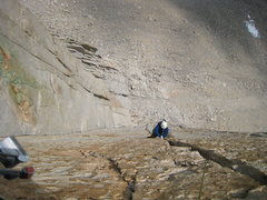 Rock Climbing Photo: Flex following pitch 3