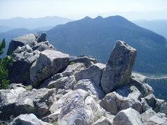 Rock Climbing Photo: Along the ridge of Mt. Thorodin.