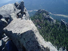 Rock Climbing Photo: Along the ridge of Mt. Thorodin. View of the 3rd f...