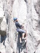 Rock Climbing Photo: BJ on 1st pitch.