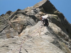 Rock Climbing Photo: BJ on the first pitch.