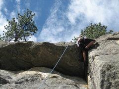 Rock Climbing Photo: BJ on pitch 2.