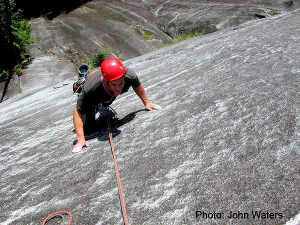 Rock Climbing Photo: High up on racknophobia