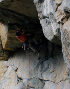Rock Climbing Photo: Setting up the crux.  Photo by: Arnold Braker.