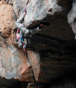 Rock Climbing Photo: The pro placement at the lip.  FA of Wiled Horses....
