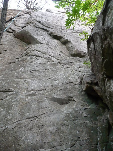 Rock Climbing Photo: Out There 5.9  Goes straight up the middle of the ...
