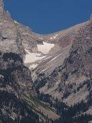 Rock Climbing Photo: Garnet Canyon and the Lower Saddle.