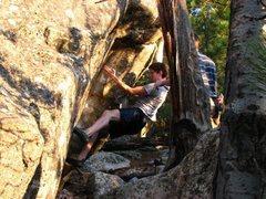Rock Climbing Photo: Kai Segrud sending Jaba.