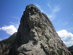 Rock Climbing Photo: Upper section of the fifth class, and the summit