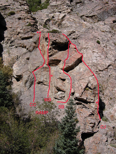 Rock Climbing Photo: Deadwood Crag,  Big Cottonwood Canyon  CC - Custer...