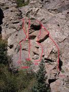 Rock Climbing Photo: Deadwood Crag,  Big Cottonwood Canyon  CC - Custer...