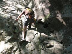 Rock Climbing Photo: Scrubbin' away