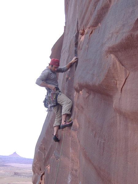 Rock Climbing Photo: Middle Crack. Reservoir Wall, Indian Creek.