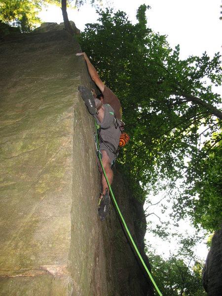 Rock Climbing Photo: John K on PWB arete