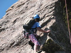 Rock Climbing Photo: First Flatiron.  Photo by Tobin Sanson.