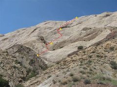 """Rock Climbing Photo: The route:-""""Fried Brains on Toast"""" 530'I..."""