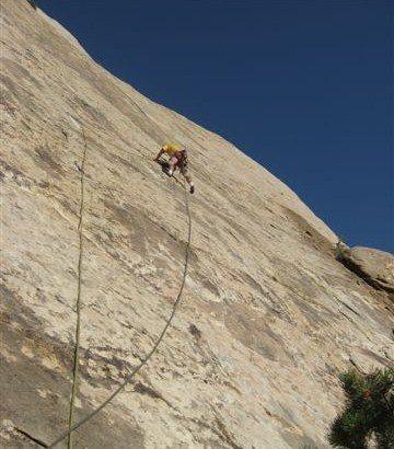 Rock Climbing Photo: Paul starting the long second pitch.Photo Layne Po...
