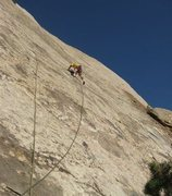 Rock Climbing Photo: Paul starting the long second pitch.Photo Layne Po...
