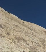Rock Climbing Photo: About a 140'up on the second pitch.From here the c...
