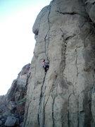 Rock Climbing Photo: Adam on the Bone Collector.
