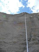 Rock Climbing Photo: Lora Woods topping out on Critical Morass on a bea...