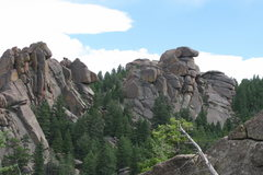 Rock Climbing Photo: The upper section of the sisters.