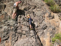 Rock Climbing Photo: Cody getting started up Pie in Your Eye on his sec...