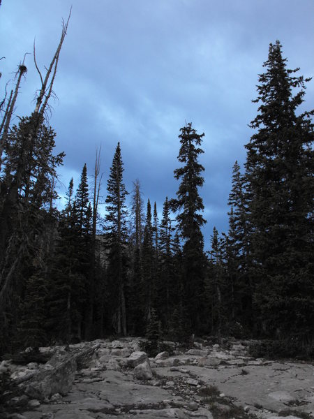 Rock Climbing Photo: dusk at ruth lake