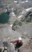 Rock Climbing Photo: Dan Dalton at the P6 belay.
