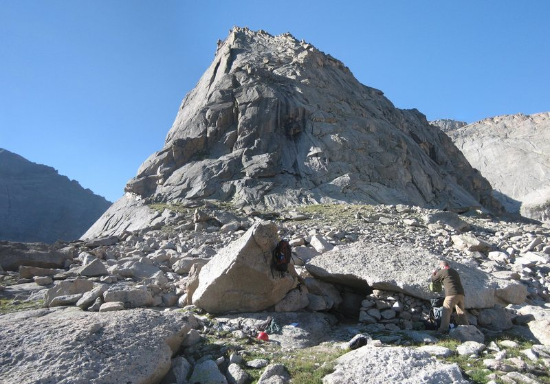 Sweet bivy at the base of Spearhead.