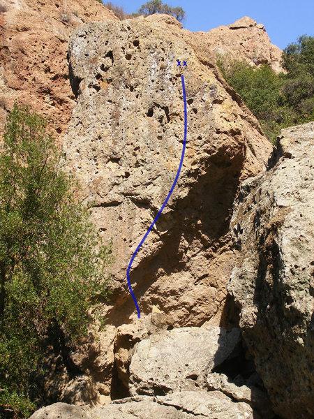 Rock Climbing Photo: Vigilante Topo
