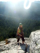 Rock Climbing Photo: Yosemite-- at the top of the last pitch-- yay!! Ph...