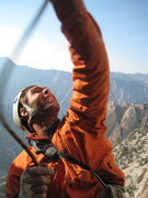 Rock Climbing Photo: John cleaning stuck ropes for the third time. Bewa...