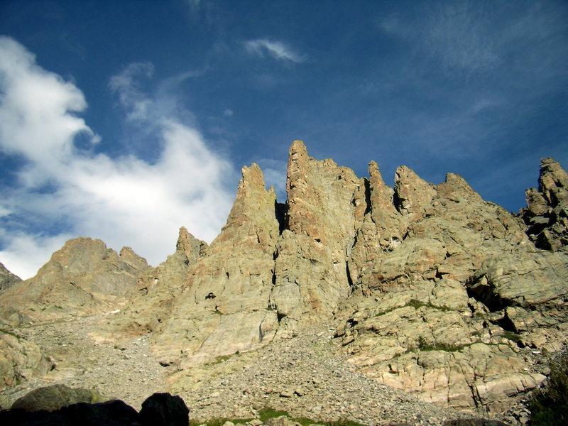 Rock Climbing Photo: Petit Grepon, Saber, Foil. Sunday Aug 31st 2008