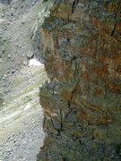 Rock Climbing Photo: Climbers on the Petit Grepon.  Photo taken from th...