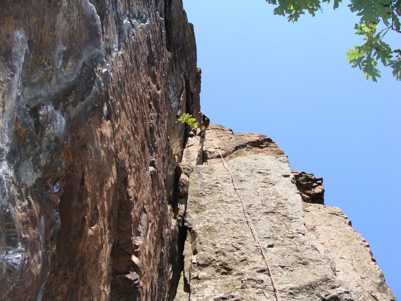 Rock Climbing Photo: Dol Guldor is the chalked up crack on the left.