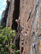 Rock Climbing Photo: Doug S., totally pysched to be climbing the best j...