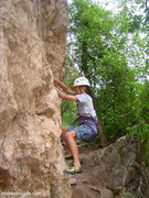 Rock Climbing Photo: 12 year old ALY on the TR.